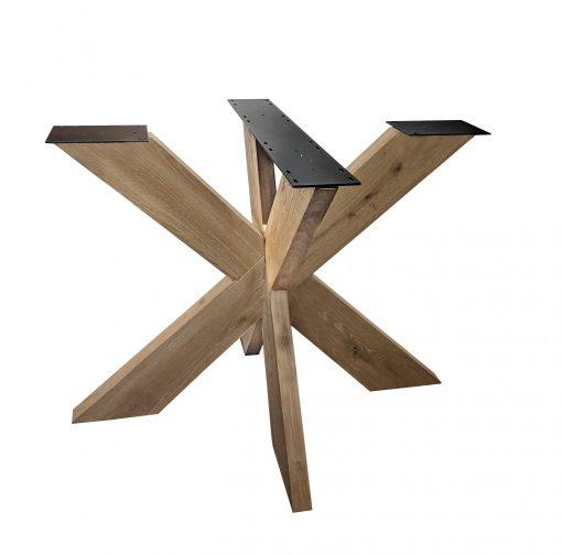 3D hout rond onderstel